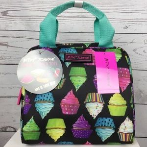 NWT Betsey Johnson Cupcake Lunch Bag Tote